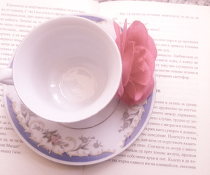 beautiful, book, and cup image