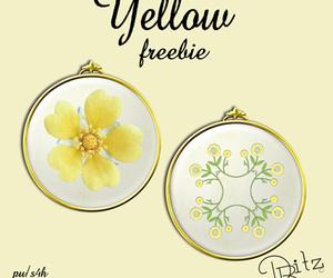 yellow, digital scrapbook, and freebie image