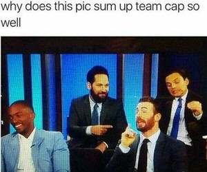 funny, Marvel, and team cap image