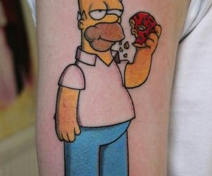 Homero, simpson, and tatto image