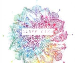 carpe diem, colors, and mandala image