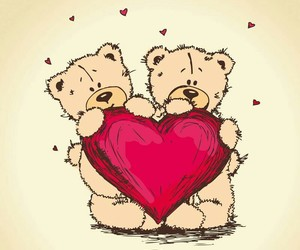 bear, heart, and red image