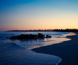 beach, blue, and haze image