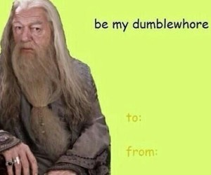 harry potter, dumbledore, and valentines day image