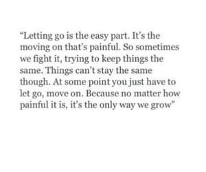 grow, let go, and letting go image