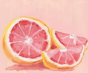 art, pink, and fruit image