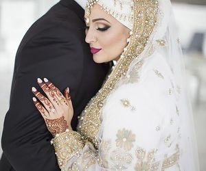 muslim, bride, and hijab image