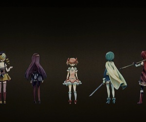 fight, magical girls, and not alone image