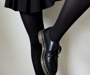 black, skirt, and aesthetic image