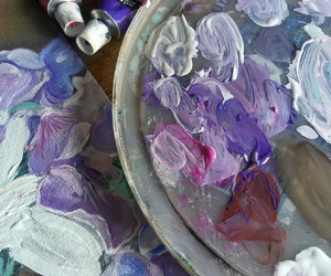 aesthetic, painting, and purple image