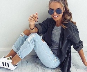 fashion, girl, and adidas image