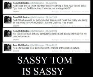 sassy, loki, and tom hiddleston image