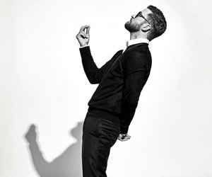 black and white, handsome, and justin timberlake image