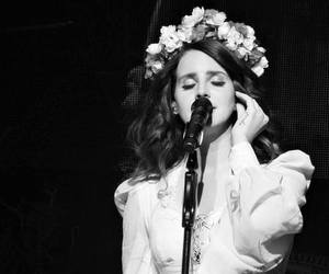 lana del rey, Queen, and flowers image