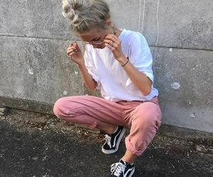 girl, fashion, and pink image