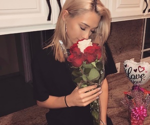 rose, girl, and cute image