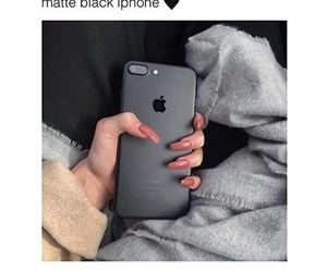 black, iphone, and nails image
