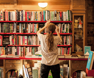 books, bookshop, and library image