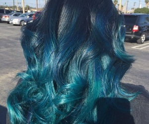 blue, blue hair, and colorful image