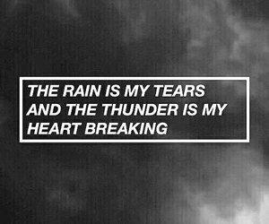 quotes, rain, and sad image
