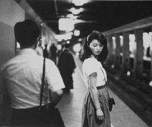 black and white, photography, and subway image