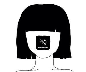 art, black, and follow image