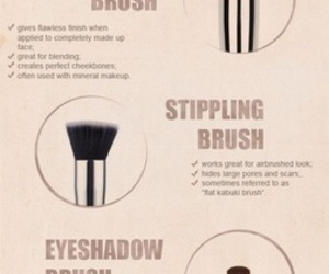 beauty, Brushes, and makeup image