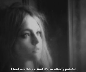 worthless, quote, and black and white image