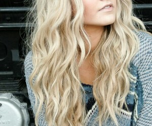 blond, pretty, and hair image