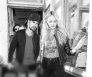 street style, candice swanepoel, and theo james image