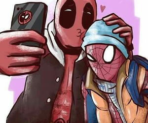 dibujo, heroes, and deadpool image