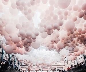 balloons, pink, and rose image