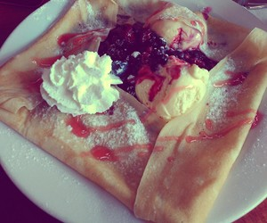 berries, lunch, and pancakes image