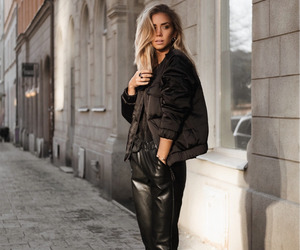 style, fashion, and leather pants image