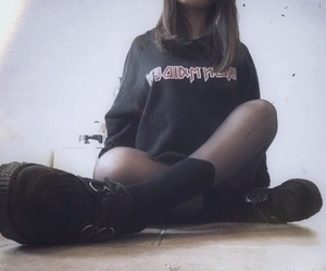 black, creepers, and grunge image