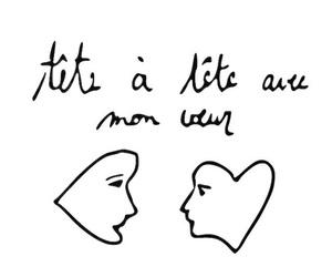 head, heart, and writing image