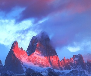 mountains, photography, and pink sky image