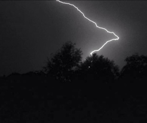 black&white and lightning image