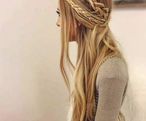 long hair, trenzas, and blondier image