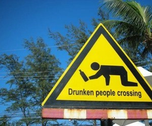 crossing, drunk, and funny image