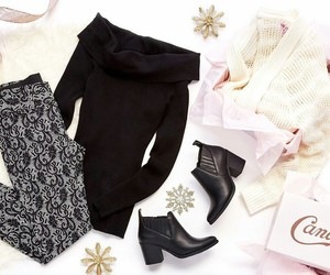 black boots, sweater, and swagger image