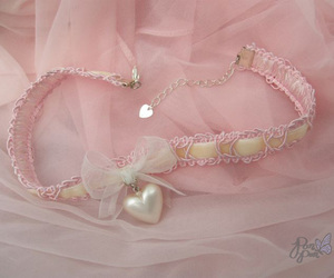 pink, choker, and fashion image