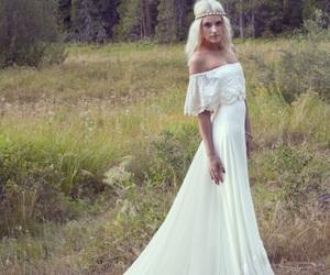 dress, hapiness, and weddingdress image