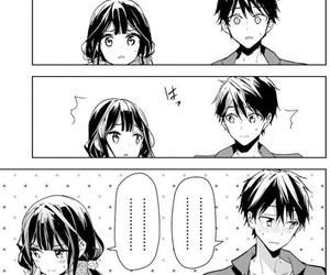 black&white, manga, and romance image