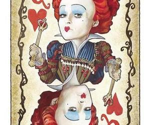 alice in wonderland, Queen, and red queen image