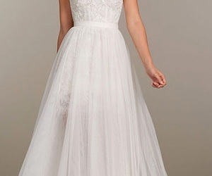 dress, pretty, and white image