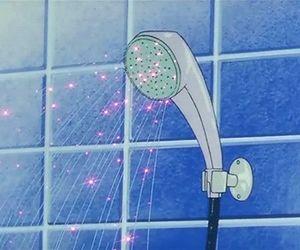 gif, shower, and anime image