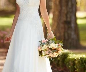 dress, hapiness, and wedding image