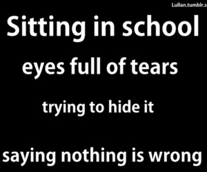 school, quote, and tears image