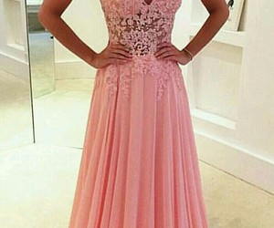 pink, dress, and Prom image